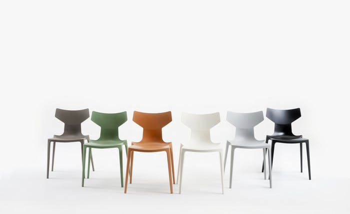 "Bio chair, made of an innovative plastic biopolymer, comes in 6 different colours<span class=""sr-only""> (opened in a new window/tab)</span>"