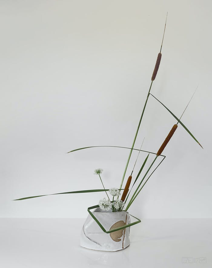 """Ikebana arrangement making great use of negative space.<span class=""""sr-only""""> (opened in a new window/tab)</span>"""