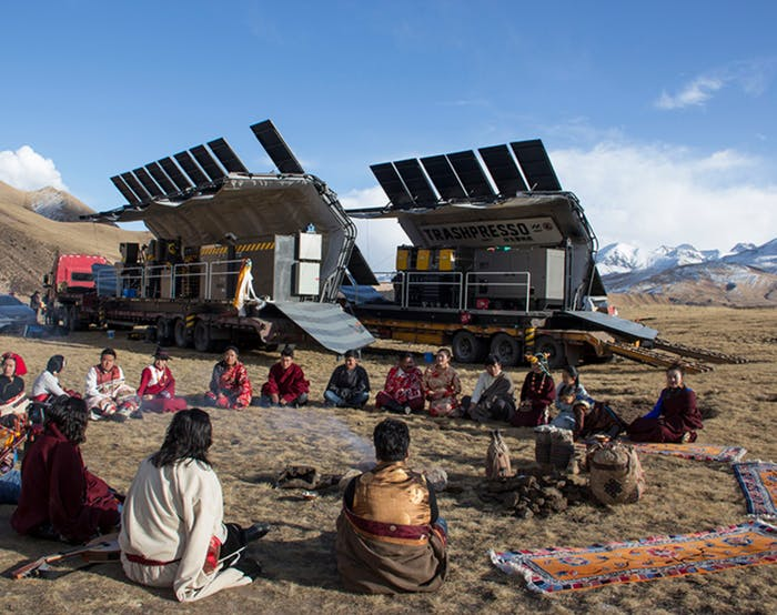 """Trashpresso on the Tibetan Plateau<span class=""""sr-only""""> (opened in a new window/tab)</span>"""